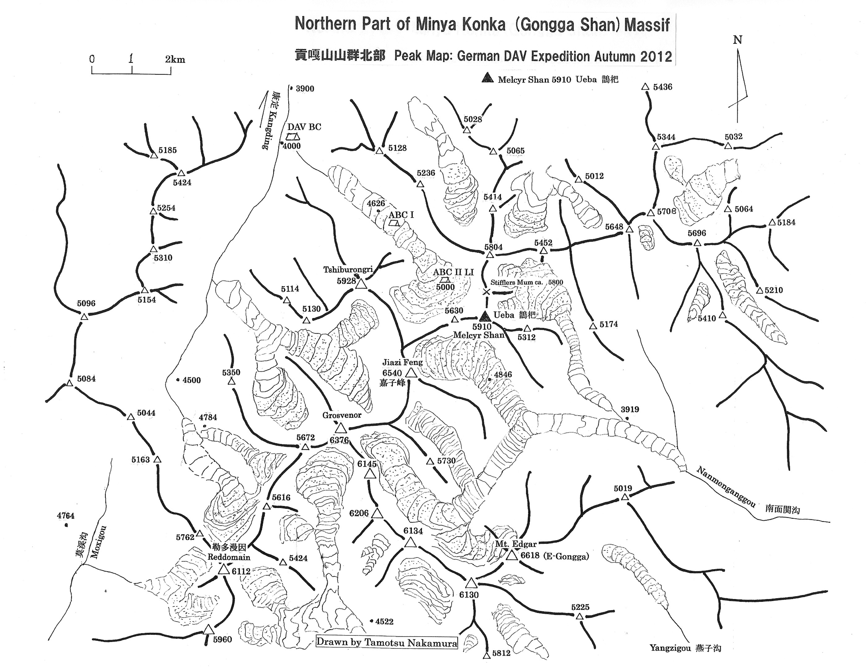 Map of the Tshiburongi area.