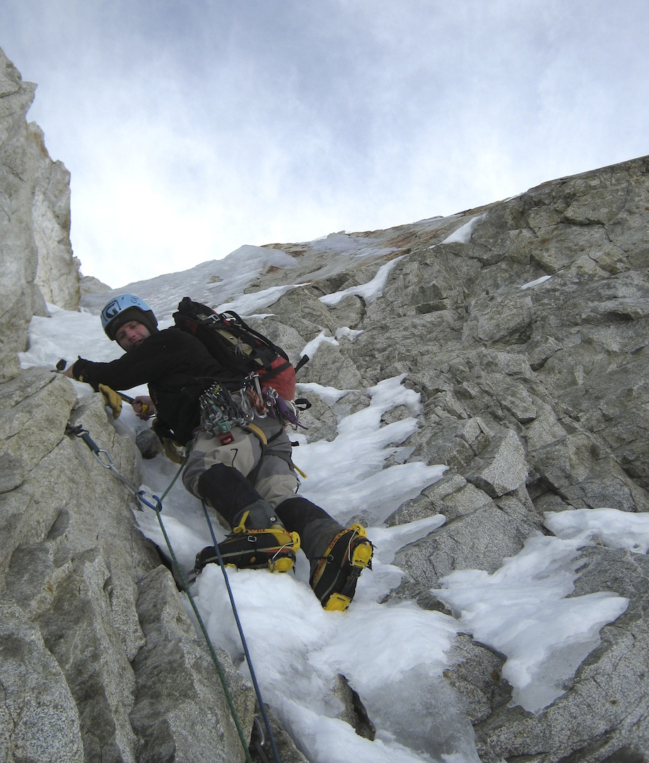 Gregg Beisley on the south face of Charquini.