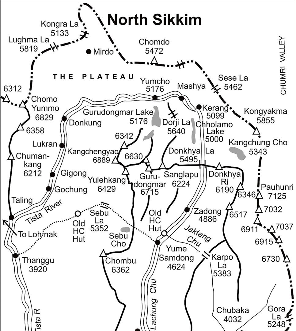 Sikkim Map