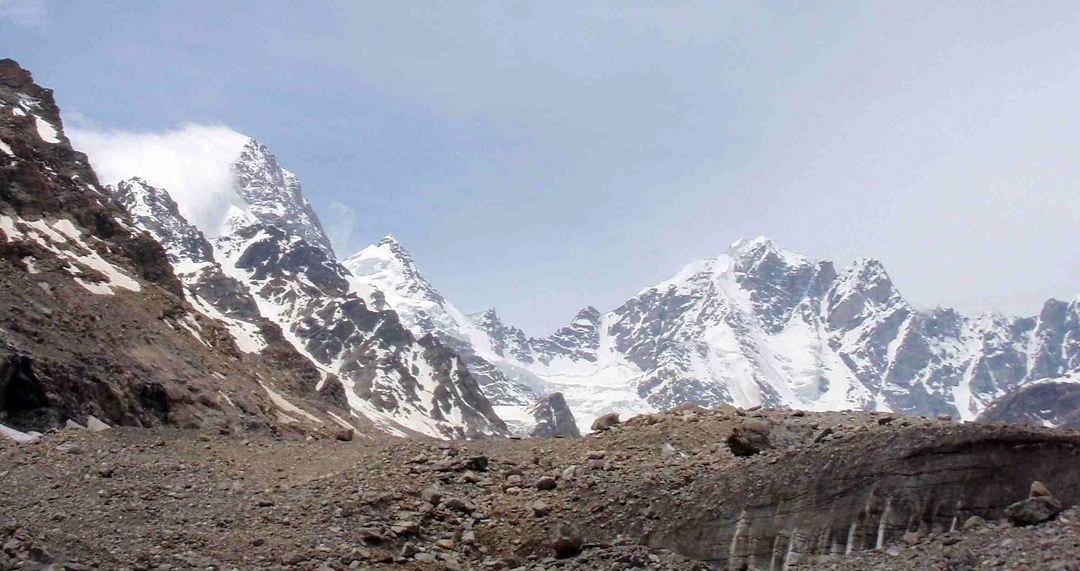 Unclimbed T4 (6,294m) and T6 (5,995m) in the Tidu Glacier, Temasa Nala.