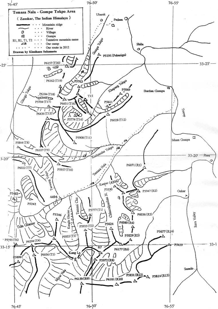 Temasa-Gompe map