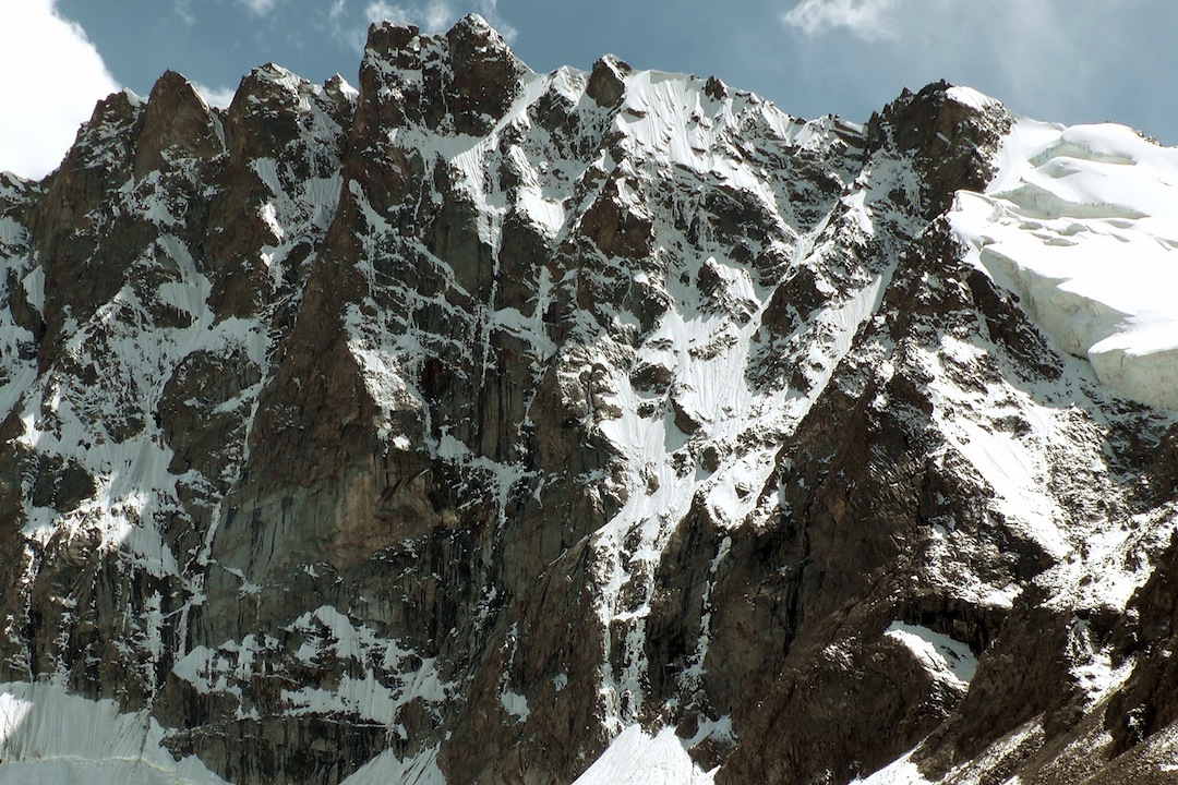 Unclimbed peak on west side of Elgha Eli Valley.