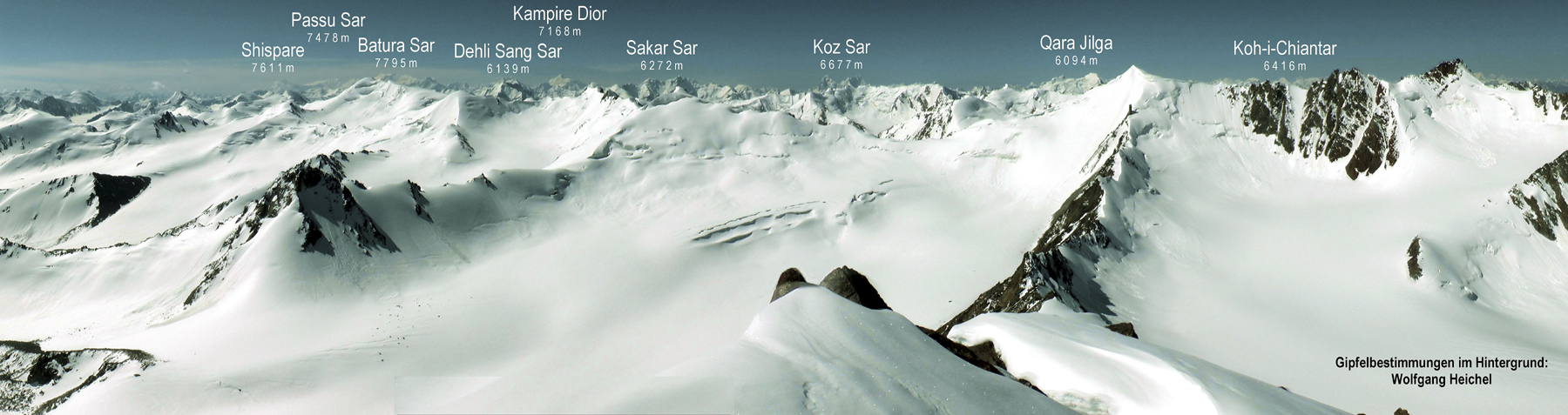 Looking approximately southwest from summit of Koh-e-Elgha Eli IV.  High background peaks identified.