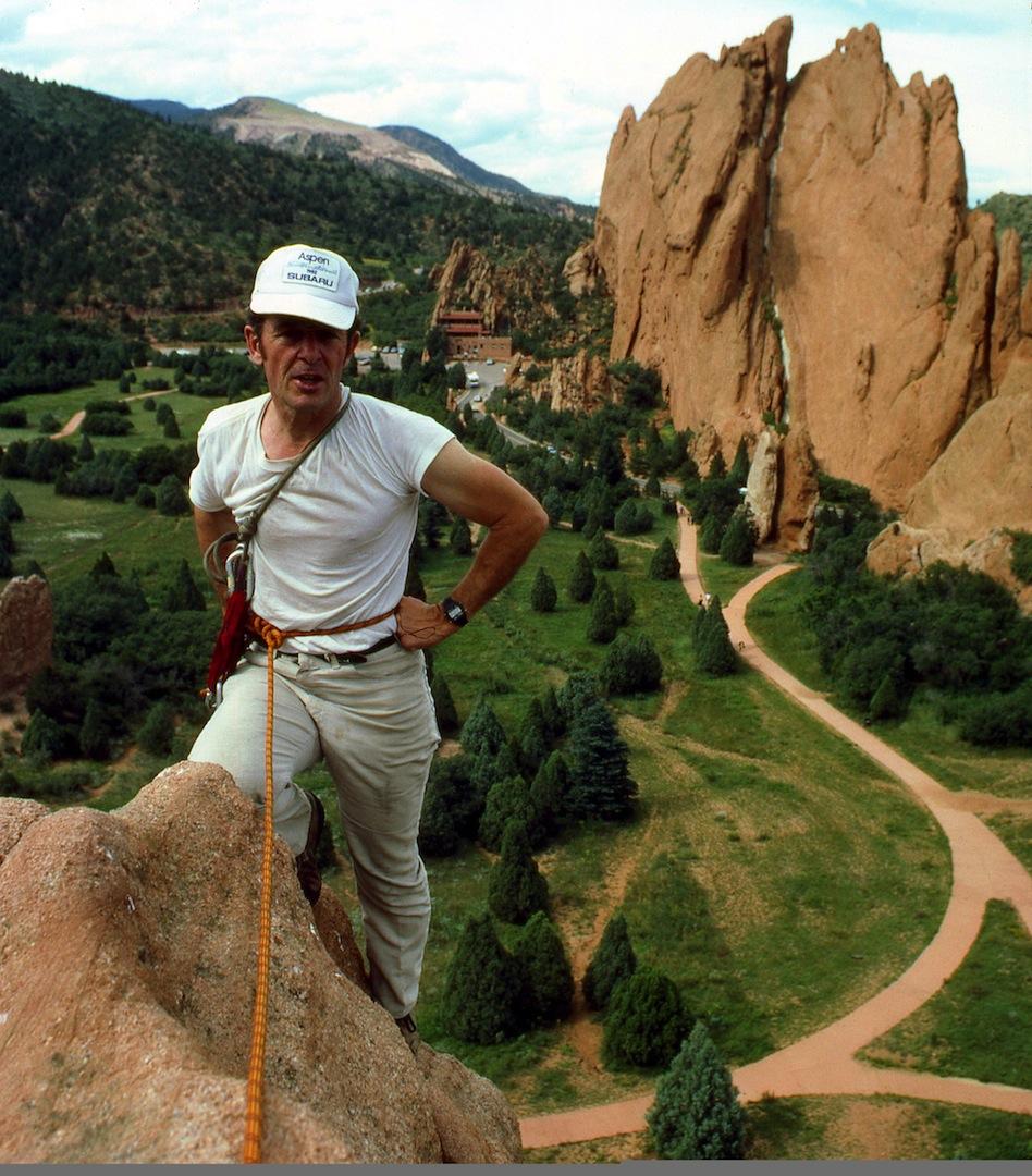 Harvey Carter (1932-2012) on Montezuma Tower in the Garden of the Gods.