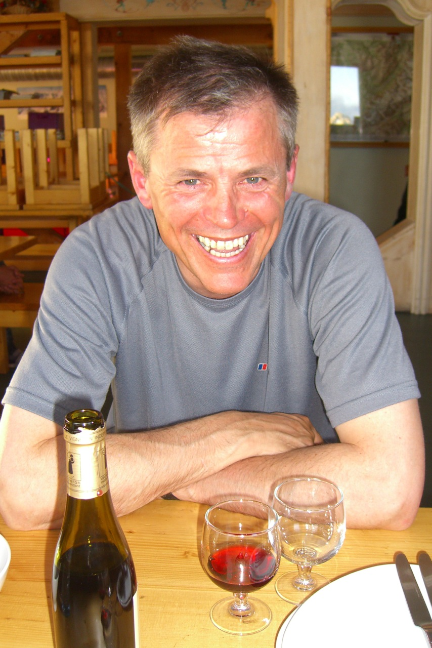 Roger Payne (1956-2012) at Cosmique Hut.