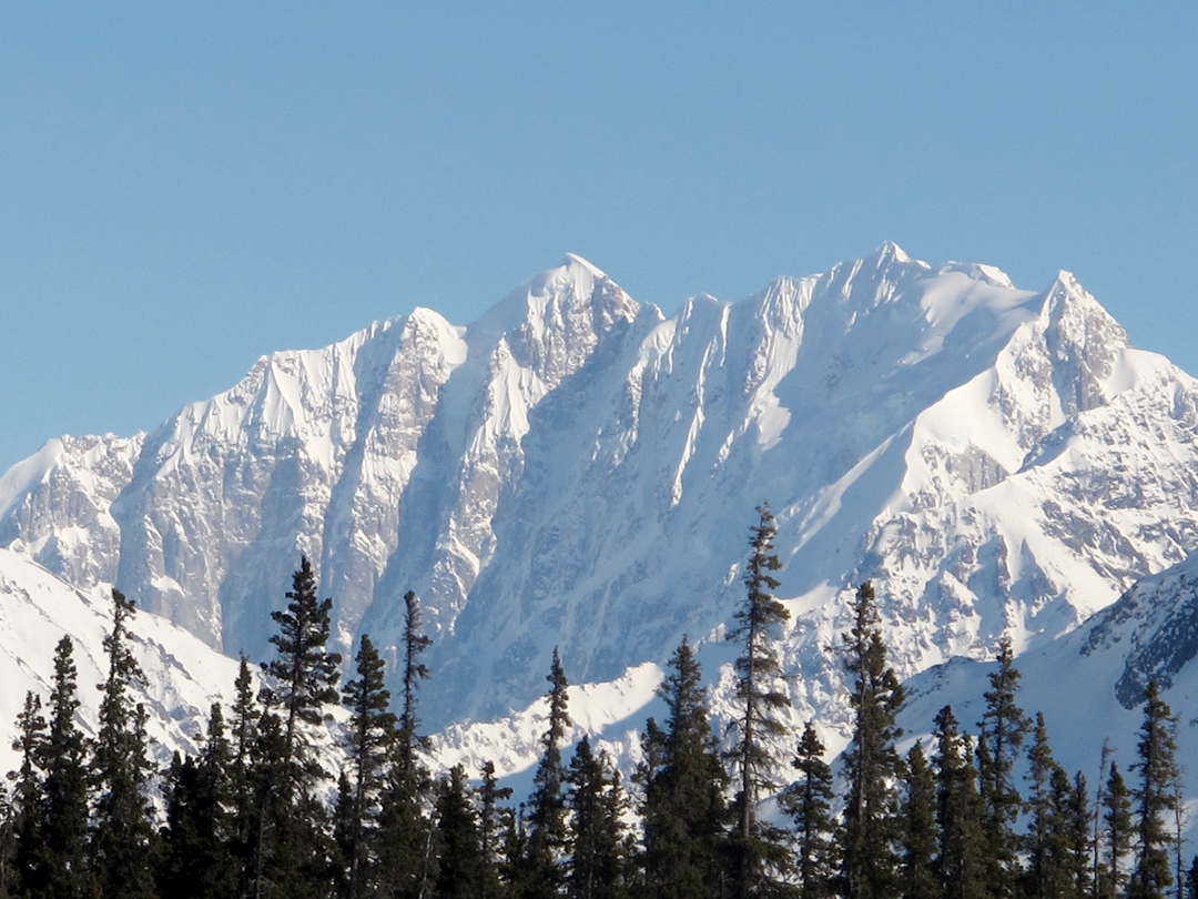 he ca 3,600-foot northwest face of Jezebel (9,650'), the Grandes Jorasses of Alaska. This peak has seen two ascents, one via the Ice Schooner route, near the left skyline (AAJ 2001) and the first ascent by a couloir on the southeast face (AAJ 1982).