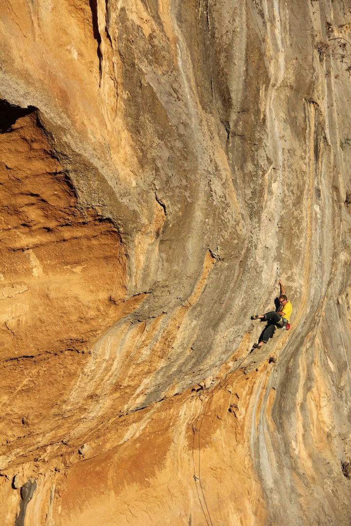Will Nazarian on Fatouche (7c) in the Georges Massoud sector.