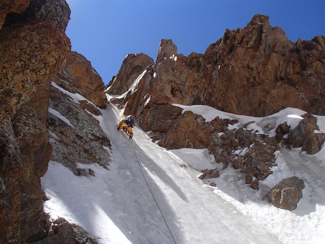 Ice climbing on Peak Buddyness.