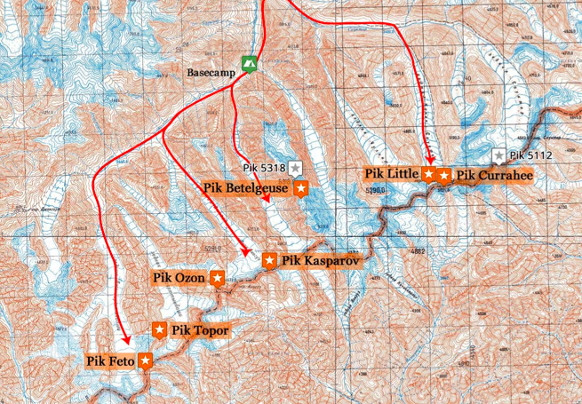 Bristol Djangart Expedition Map