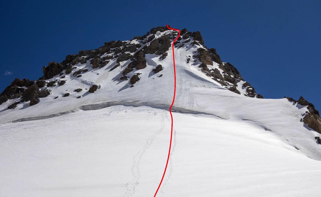 The north-facing line on Peak Feto.