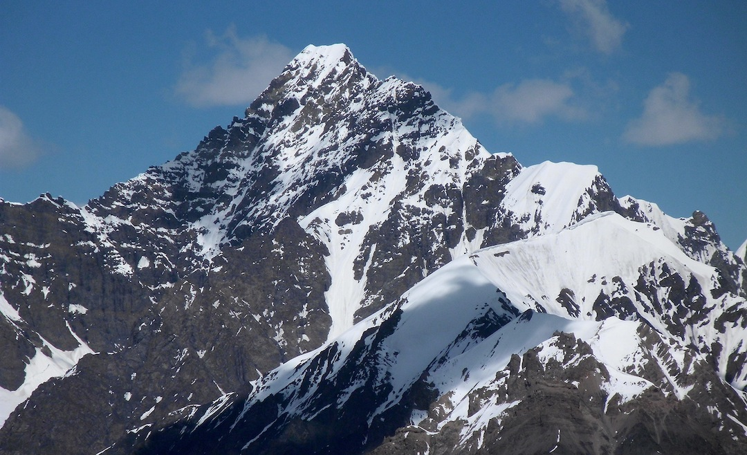 South face of unclimbed Yawash Sar I (6,258m).