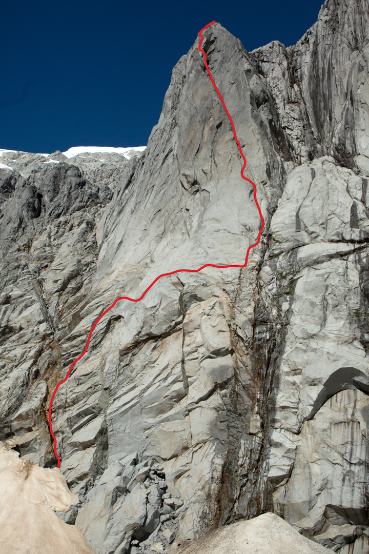 La Vuelta de los Condores, on the left side of Cerro Mariposa.