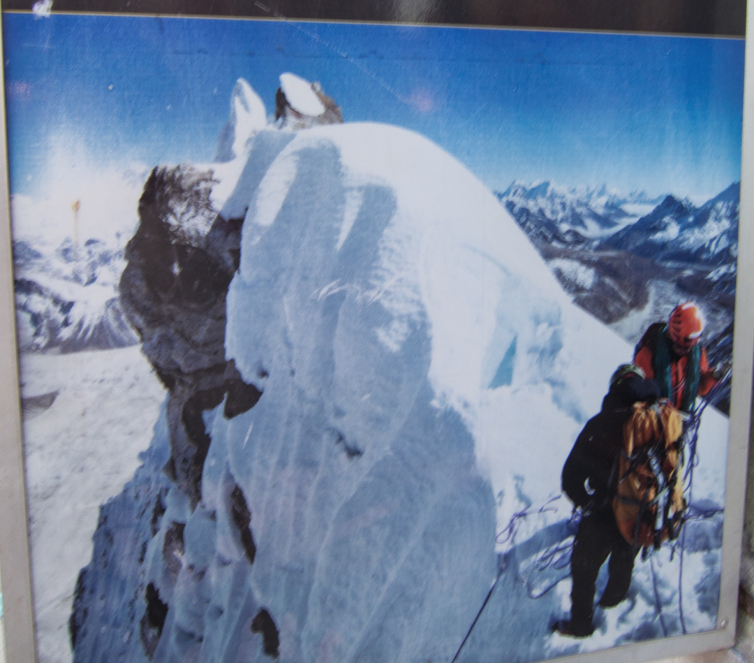 One of the 2009 expedition's purported summit photos from Pangbuk North (then called Jobo LeCoultre).