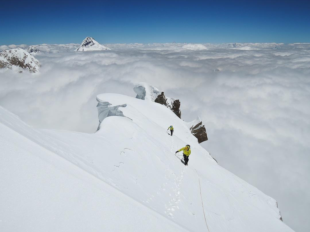 Final steps toward the summit of Khunyang Chhish East.