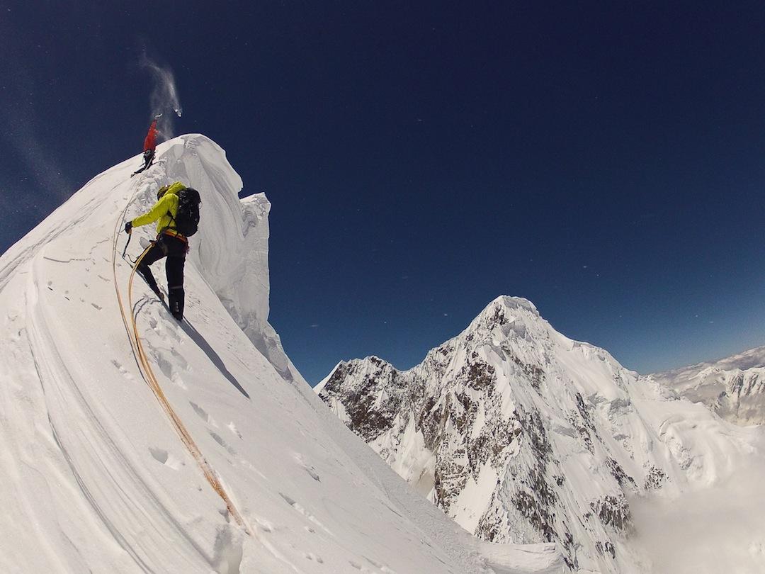 Summit ridge cornice.