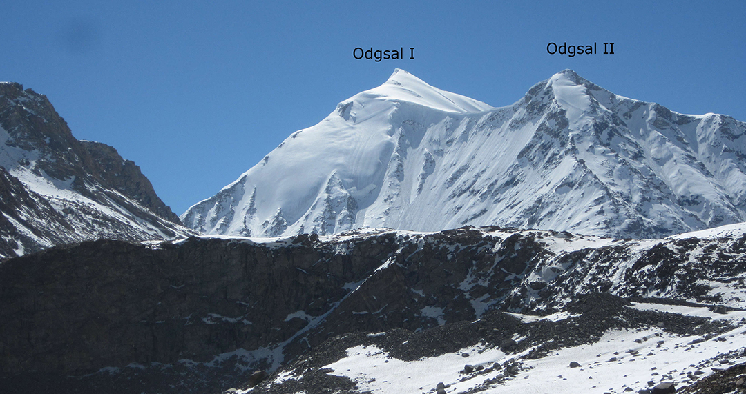 Looking approximately southeast at the Odgsal peaks.