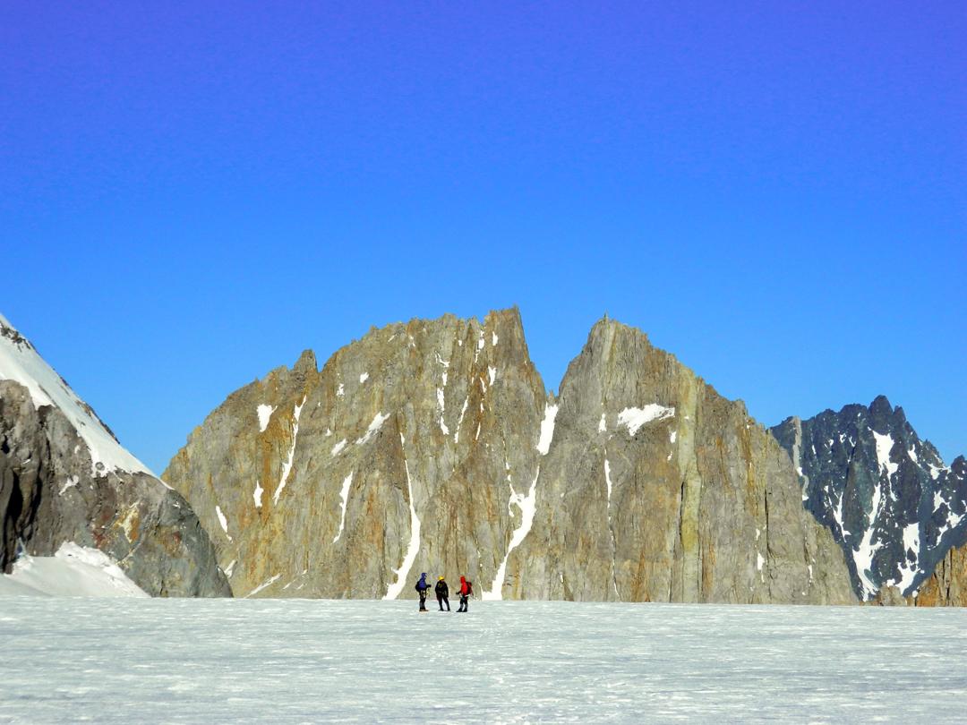 2: Gran Torre del Cortaderal from the Cortaderal Glacier.