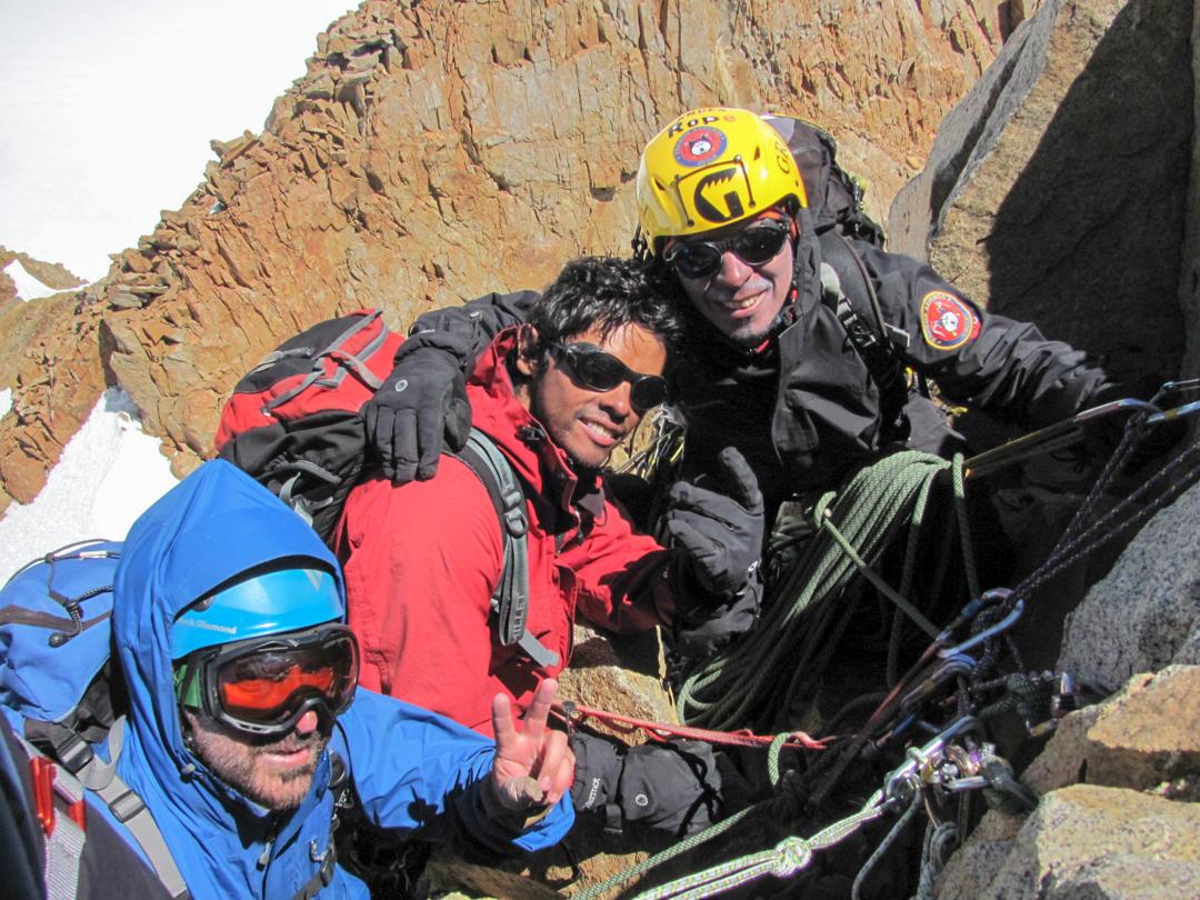 On the summit of Pilar Occidental.