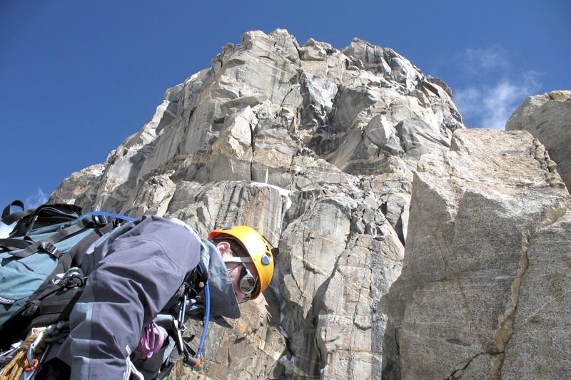 Kawecki at 5,650m high point below headwall on southeast ridge.
