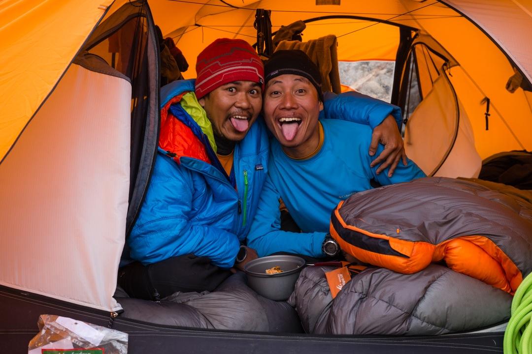 Climbers Win Ko Ko and Pyae Phyo Aung.