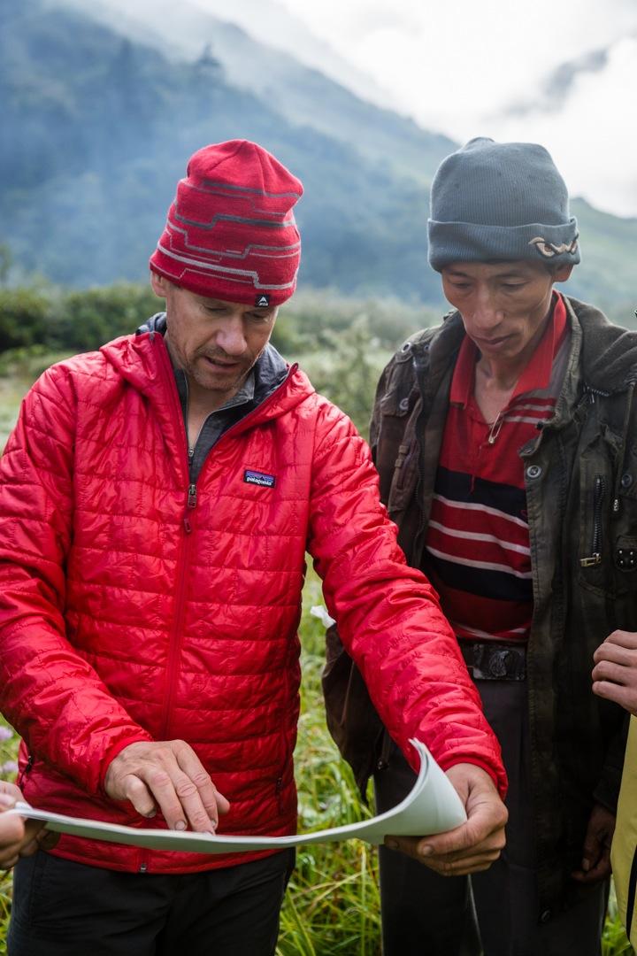 Andy Tyson with Namar Jonsain, who joined Takashi Ozaki for the first ascent of Hkakabo Razi in 1996.