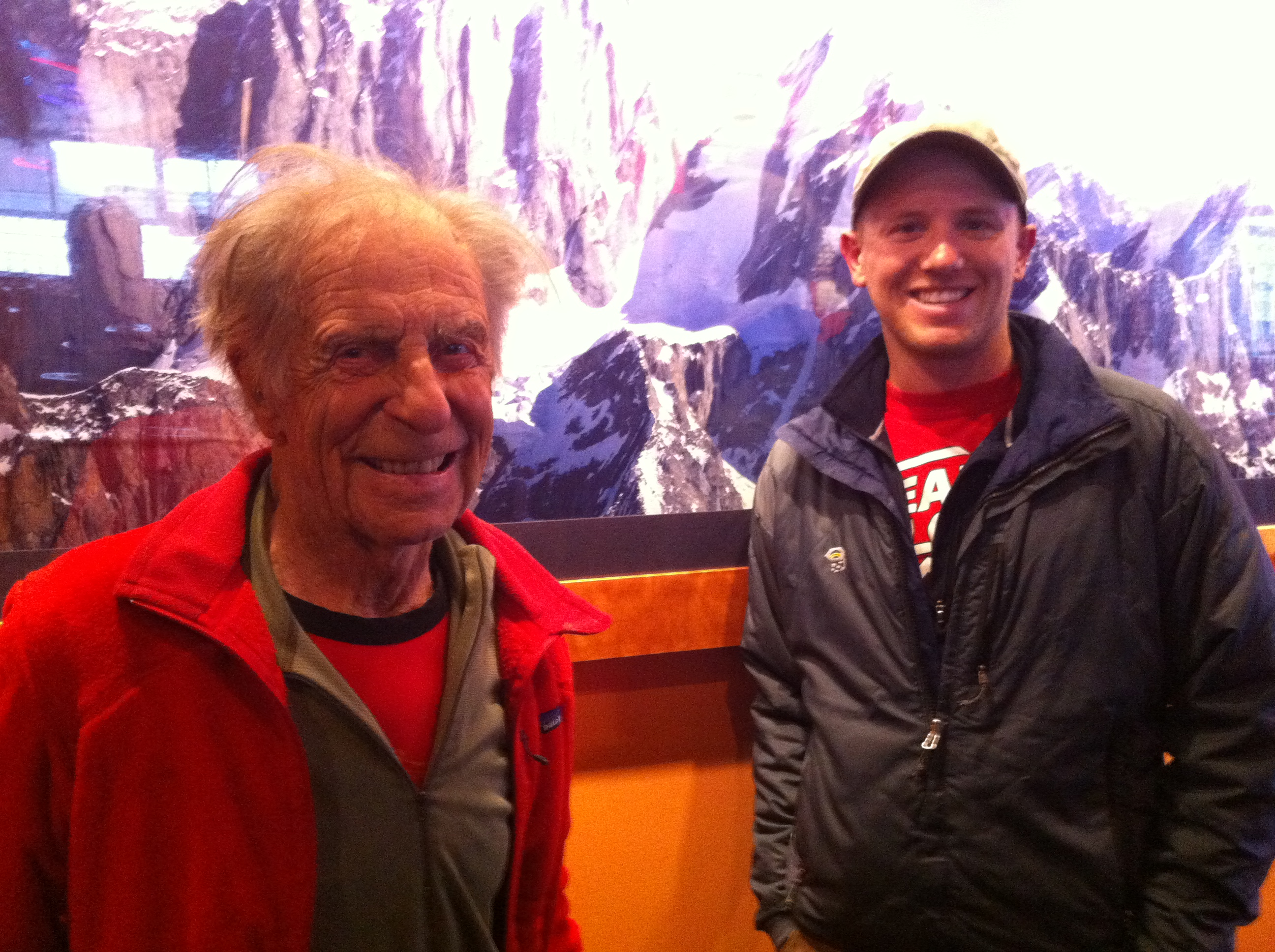 Fred Beckey (left) and Clint Helander (right).