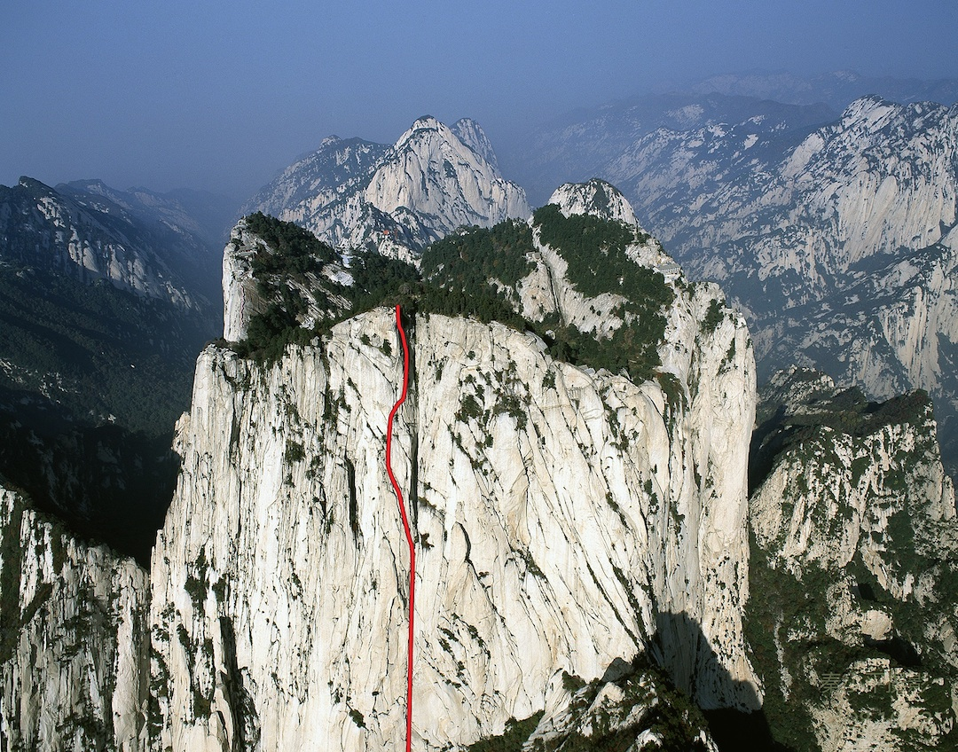 Never Give Up on the 600m south face of Hua Shan's south tower.