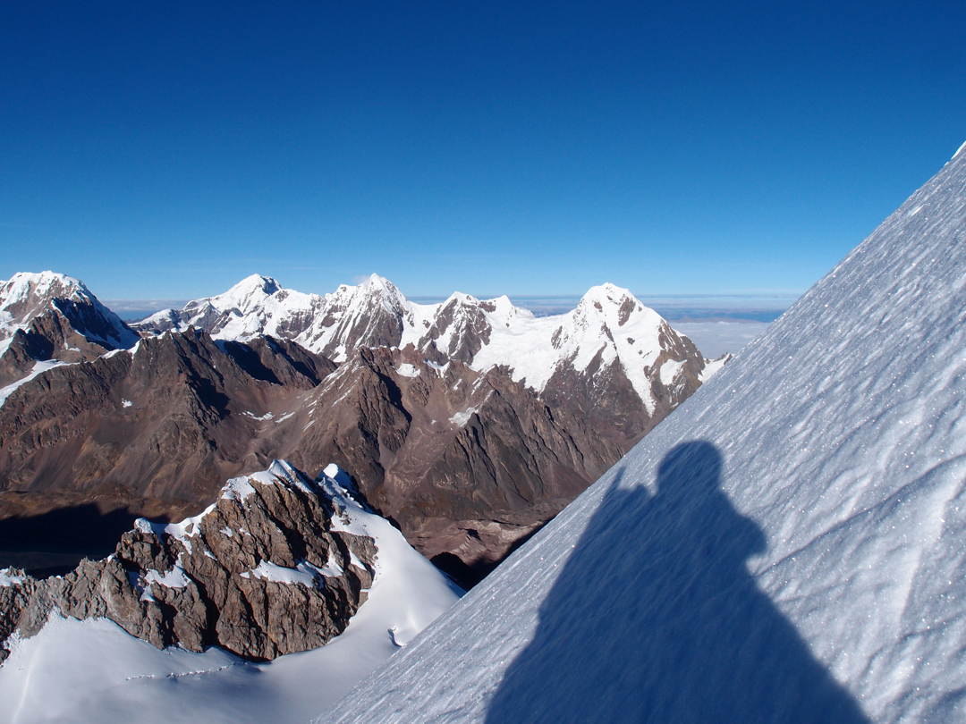 Looking west from the upper south face of Nevado Colque Cruz.