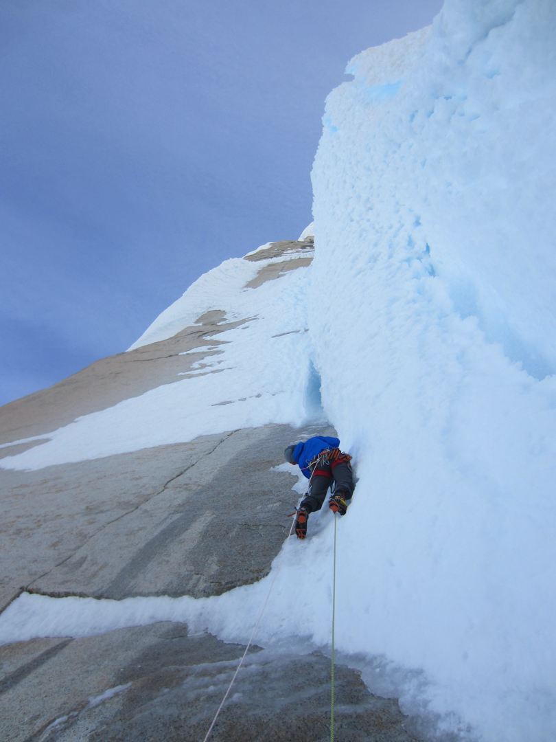 Colin Haley leading pitch three of Venez Azules.