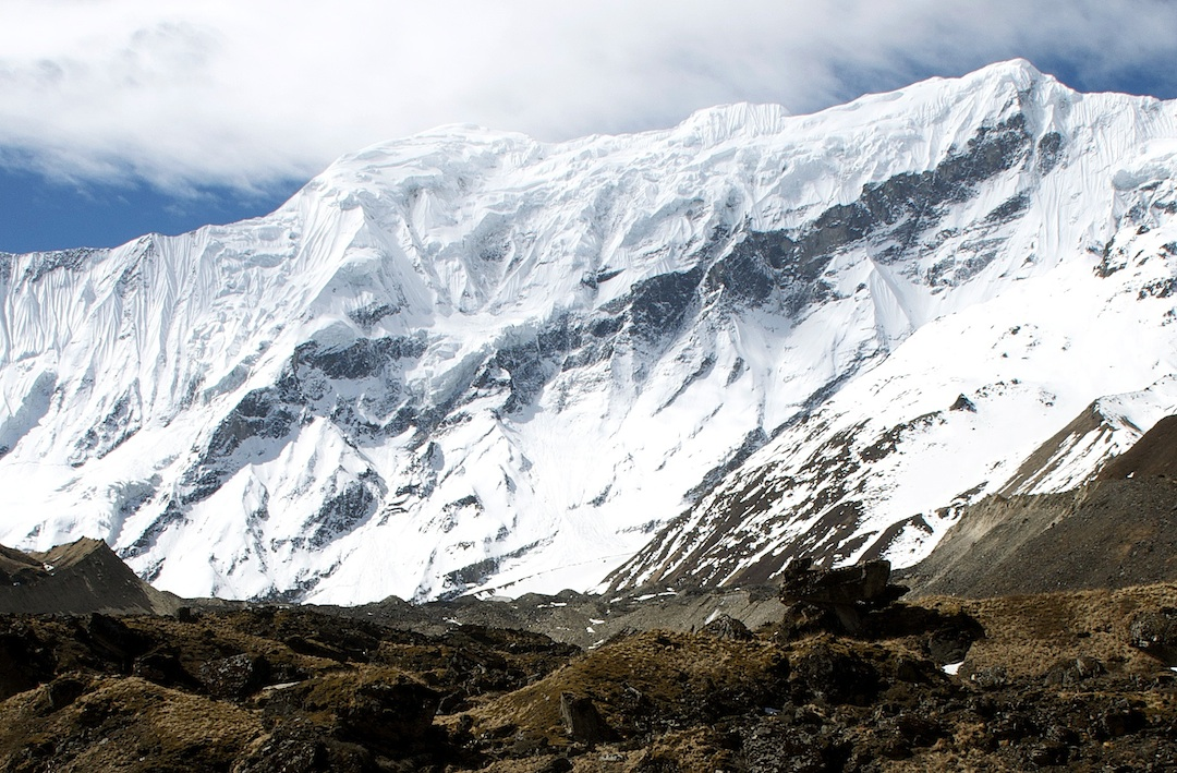 The northern aspect of unclimbed Kasi Dalpha.
