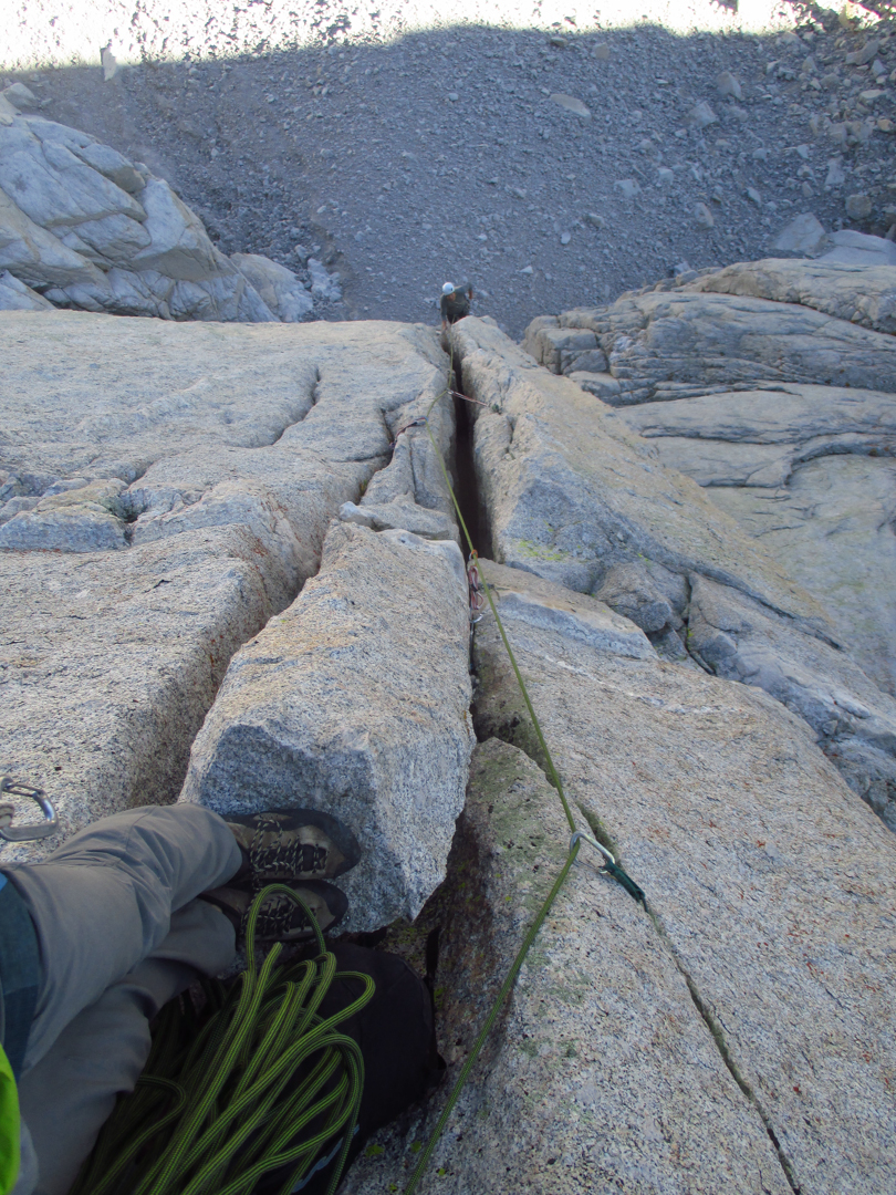 Looking down the third pitch of Skinny Girls.