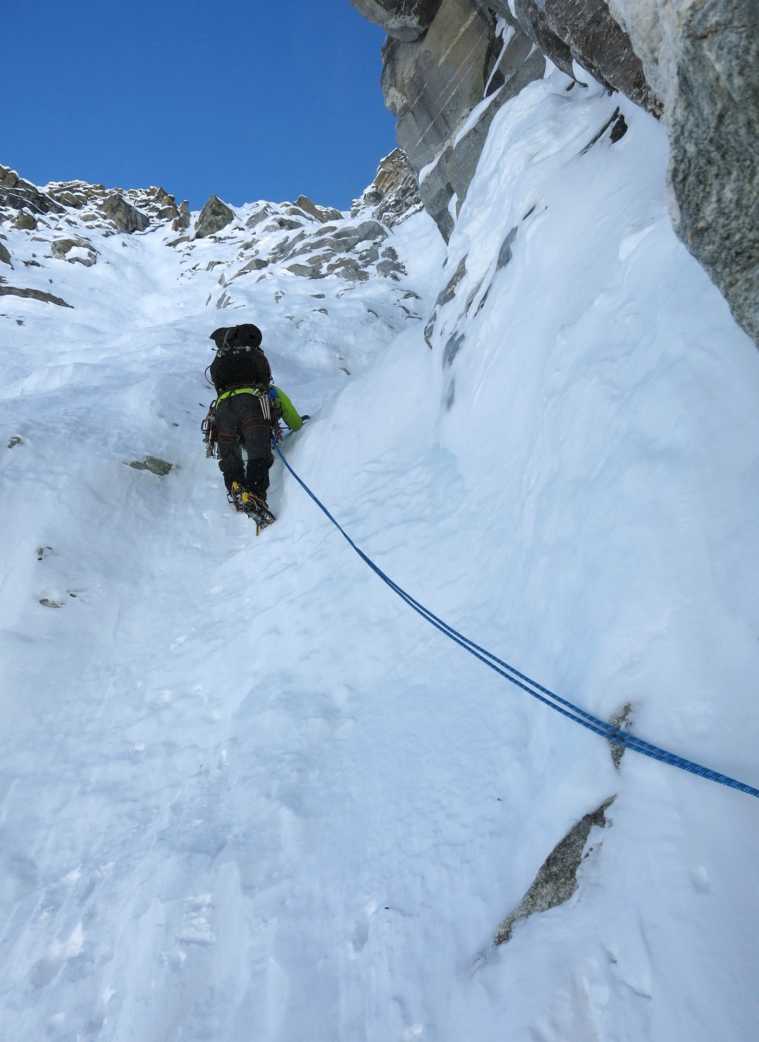 On the second day of the attempt on the north face of Kangcho Nup.