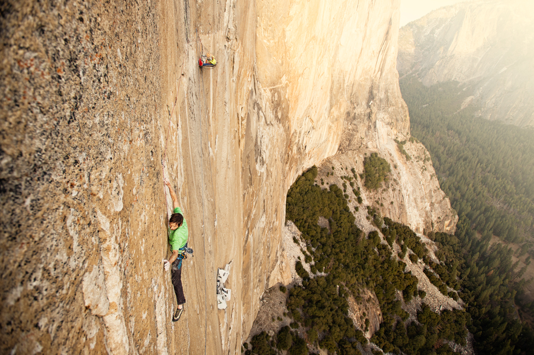 Kevin Jorgeson battles his nemesis, the 15th pitch (5.14d), which required four climbing days, three rest days, and 11 attempts in all.
