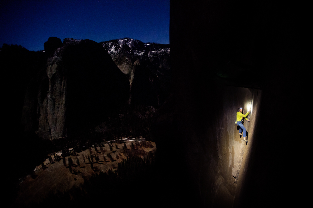 Tommy Caldwell on the Loop Pitch of the Dawn Wall (p.12).