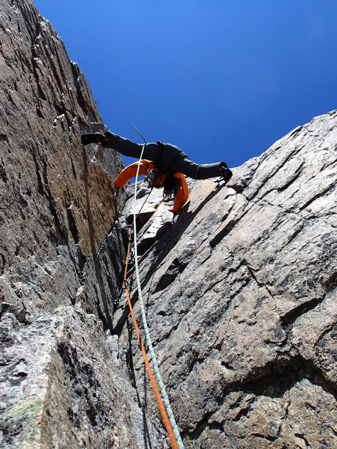 enkins midway on Rust Never Sleeps (10 pitches, 5.11a, 2014), likely the first route up Cloud's south buttress.