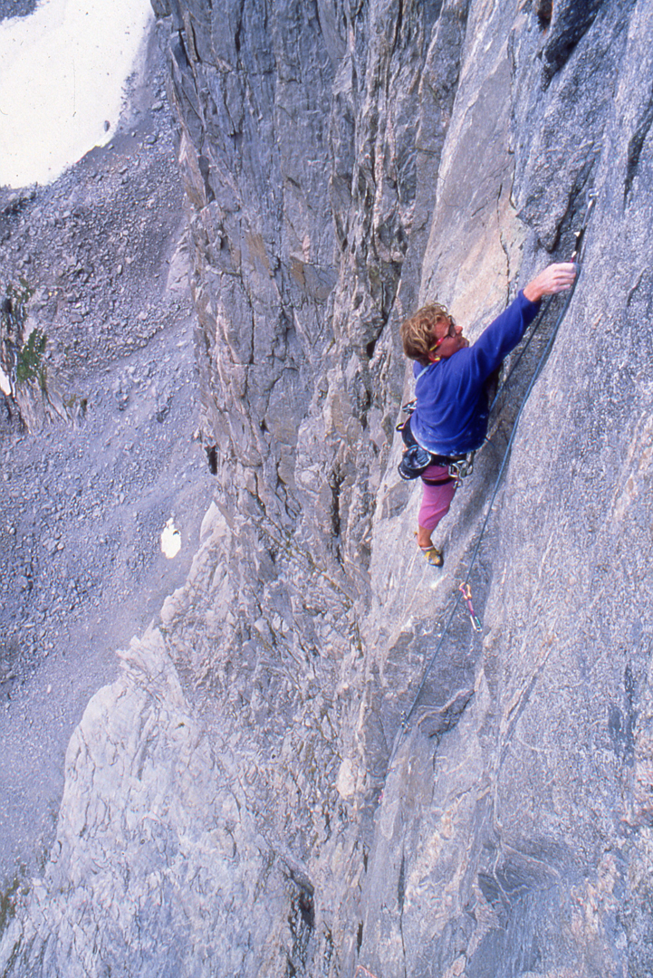 Steve Bechtel on Super Fortress. The top seven pitches are 5.11.