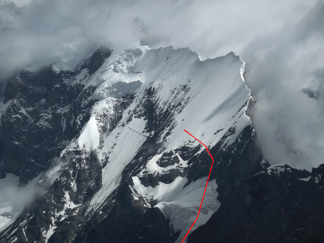 The south ridge of Batura VI and the high point of the 2014 expedition.