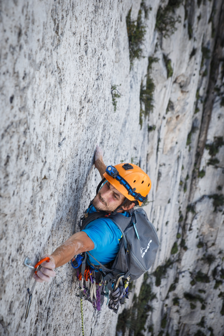 Gareth Leah on the Life You Can Save (350m, 13 pitches, 5.12d).