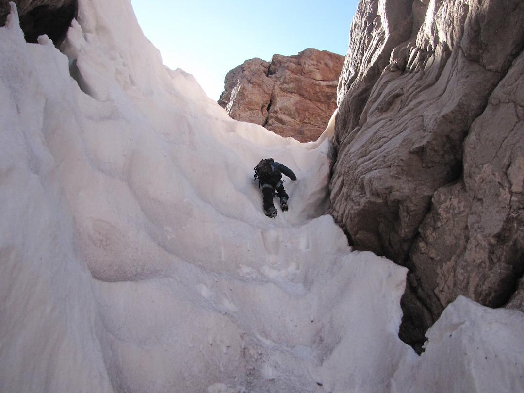 Beginning the route up Cerro Tito.