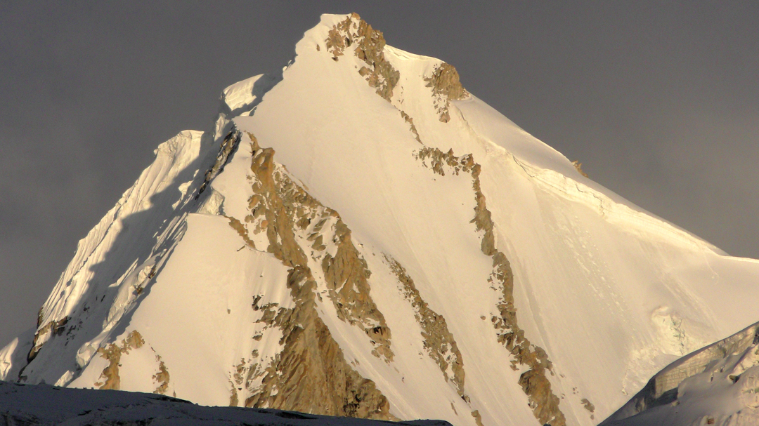 Unclimbed S1 seen from the northwest.