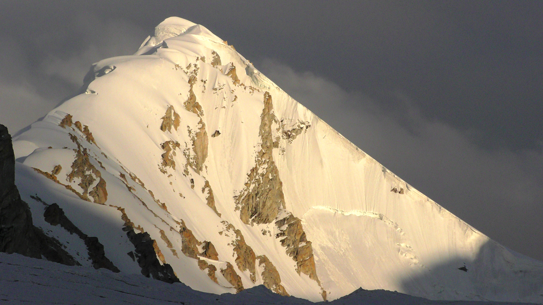 Unclimbed S2 seen from the northwest.