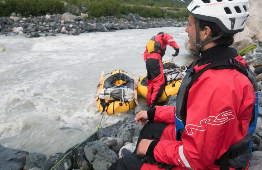 Treacherous rapids during the exit from the mountains sometimes demanded portages, a slow and arduous process.