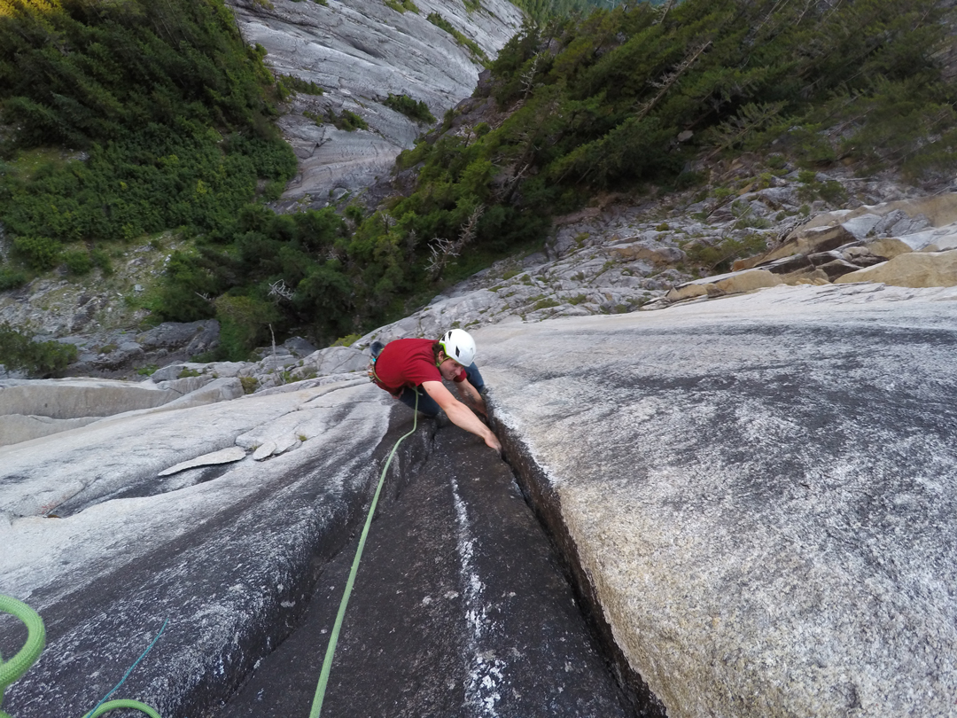 Marc-André Leclerc following pitch two of Hidden Dragon on the Chinese Puzzle Wall.