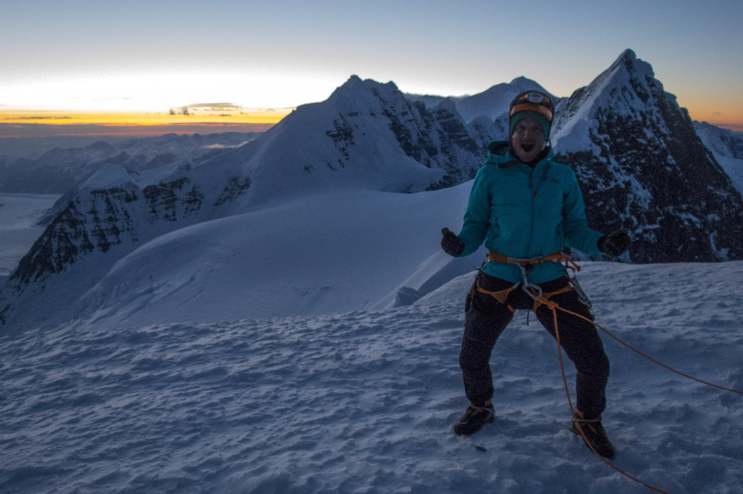 Graham Zimmerman psyched to be on the summit of Celeno