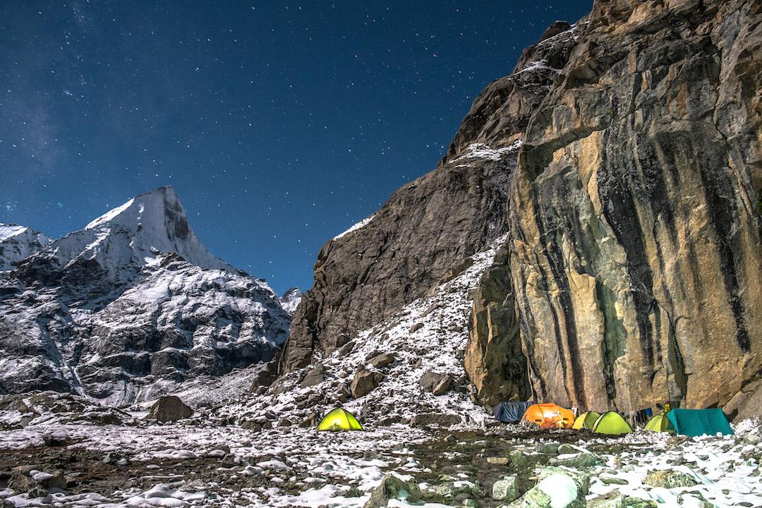 Base camp at 3,900m.