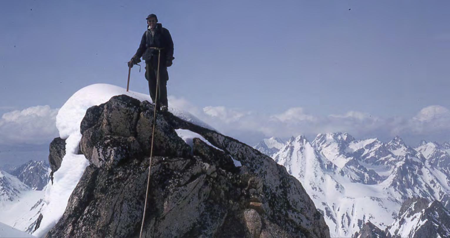 Joe Firey on top of Peak 6,310' in 1965.