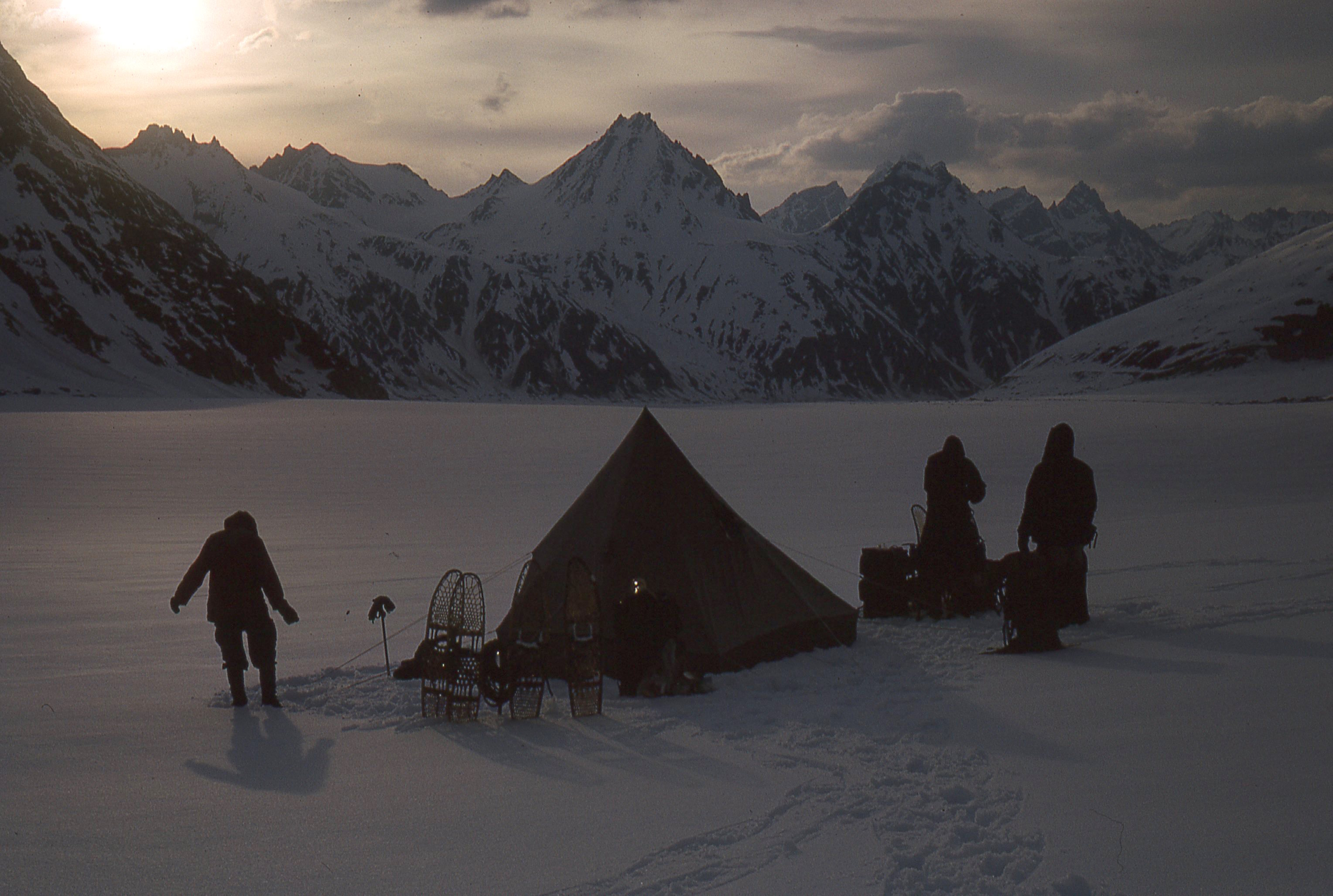 Camp in the Neacola Mountains, 1965.