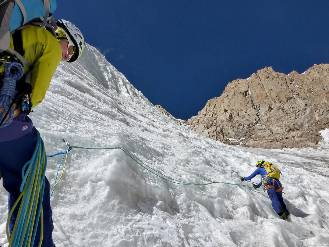 Climbing the east face of Farihta (5,437m GPS).