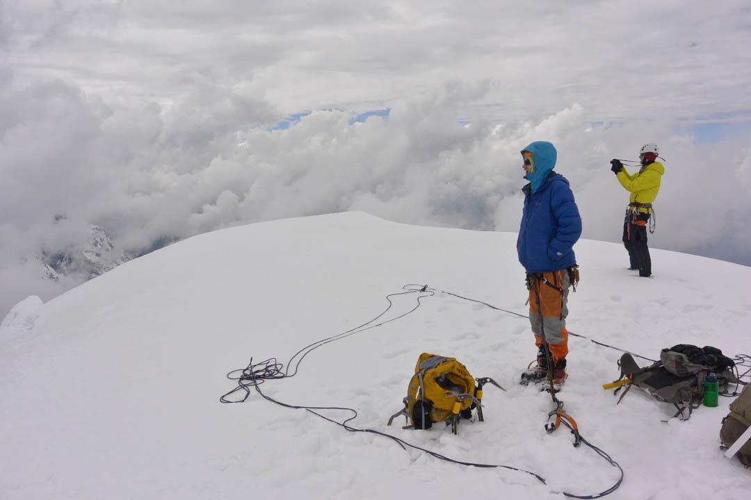 On the summit of Nevado Panta.