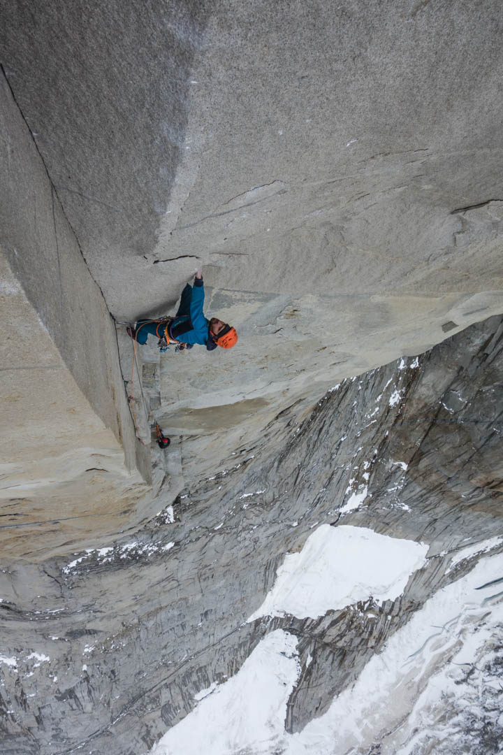 Sean Villanueva O'Driscoll nearing the hard moves at the end of pitch 12 (5.13b) of El Regalo de Mwoma.
